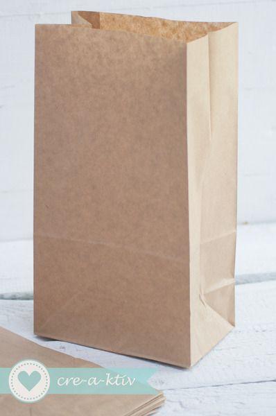 ♥24 Papiertüten♥braun♥Bodenbeutel 15x9x27cm♥ von cre-a-ktiv auf DaWanda.com