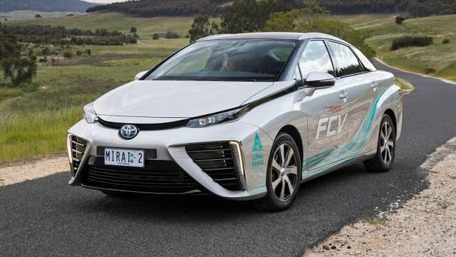 Toyota Mirai 2019 2nd Gen 2020 All Colors Salsa Red Pearl Atmospheric Blue Metallic Nautical Blue Metallic Cry Fuel Cell Electric Vehicle Vehicles Toyota