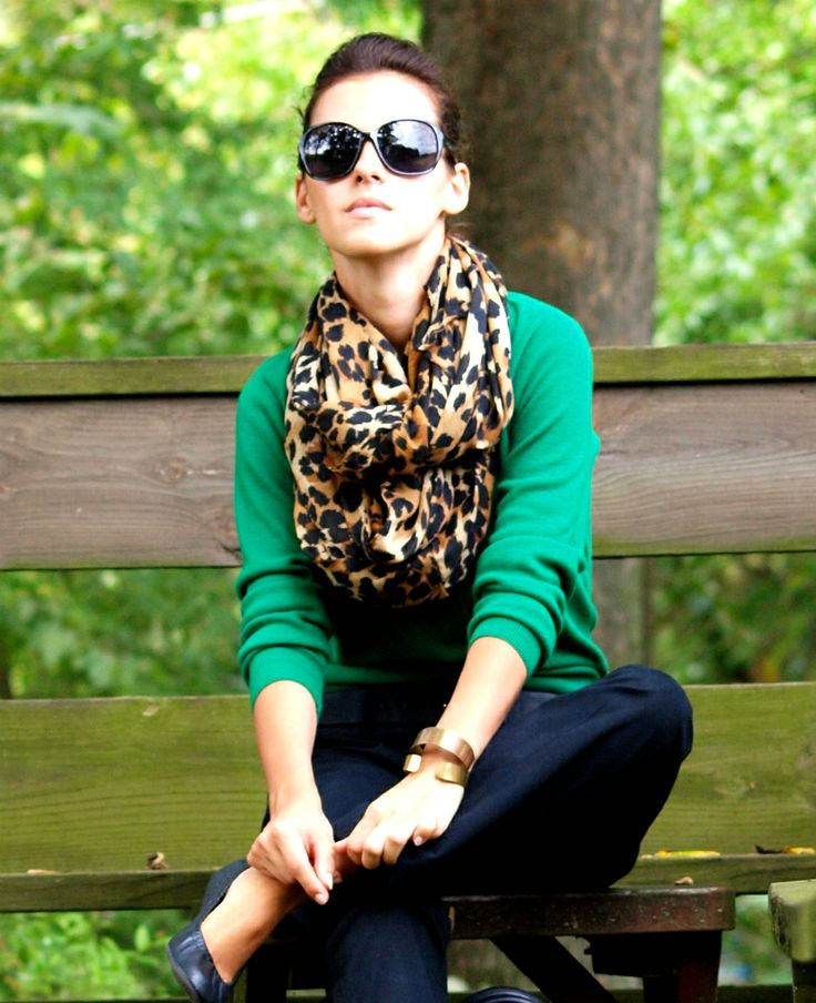 leopard and bright green.