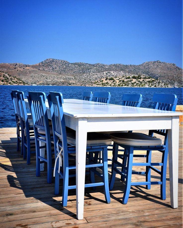 Bozburun Yacht Club / Turkey @tubakoseogluokcu True Eagean colors #mysweet_blue #igersturkey #ig_turkey #allshotsturkey #turkishfollowers #turkinstagram #turkobjektif #ig_anatolia #anadolufotograf #anadolufotograf #severekcekiyoruz #aniyakala #zamanidurdur #benimkadrajim #bozburunyachtclub #igdaily #supermegamaster_pics #ihavethisthingwithchairs #chairswithstories #chairsofinstagram #chairswithview