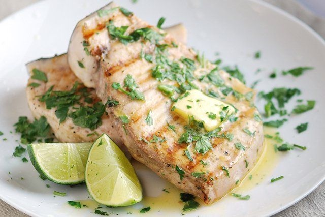 Grilled Swordfish with coriander and lime Recipe