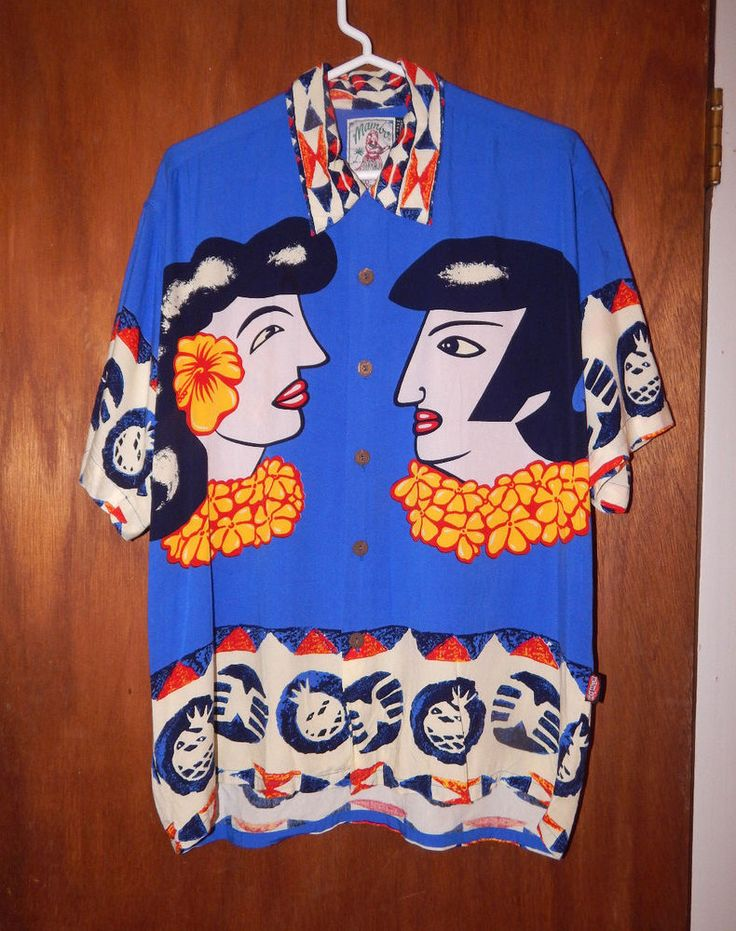 Mambo loud original Hawiian shirt Elvis Priscilla blue hawaii size medium  #Mambo #Hawaiian