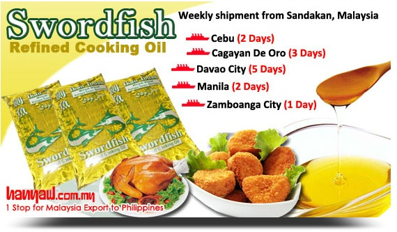 Sword Fish- Refined Palm cooking oil that adds flavor to your food.