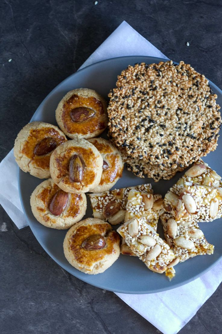 Snacks to make for Chinese New Year - almond cookies, sesame crisps ...
