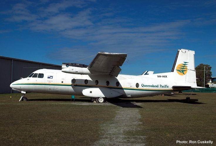 QAM AIRCRAFT COLLECTION, Nord 262A-32/Mohawk 298 VH-HIX c/n 42 at Caloundra 18/7/09. Photograph Ron Cuskelly.