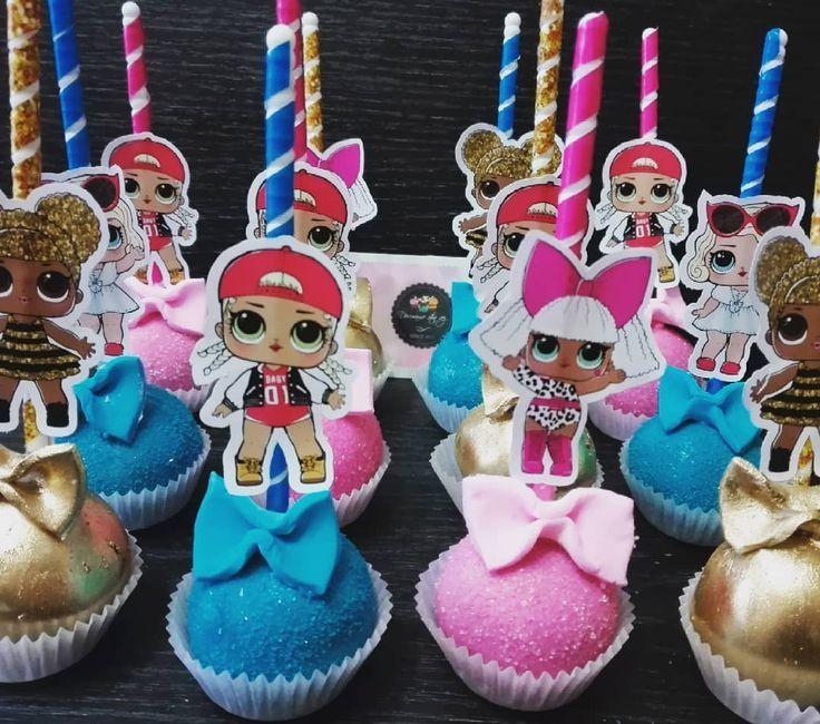 Wunderschöne #lolsurprise #cakepops mit ihren Charakteren #lol # dolls #barraca… – Geburtstag LOL