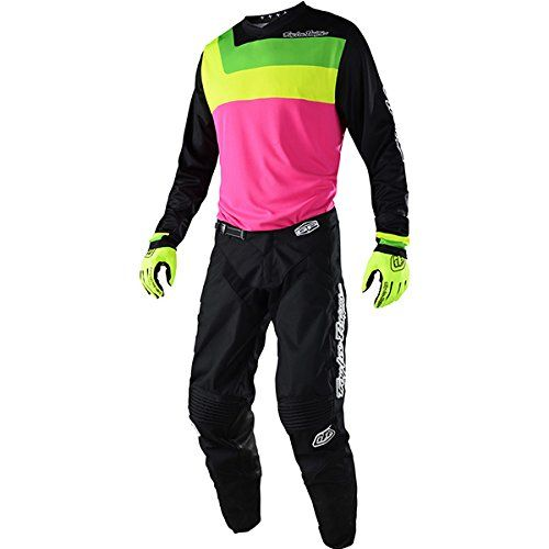 Troy Lee Designs GP Prisma Flo-Pink Jersey/ Pant Combo - Size LARGE/ 34W:   Troy Lee Designs 2018 GP Prisma Pants Features: NEW Articulated fit for performance Ratchet closure system for waist Cowhide leather panels on inner knee areas 2-way stretch panels at rear knee, calf and crotch Rear yoke provides added flexibility YKK brand zipper