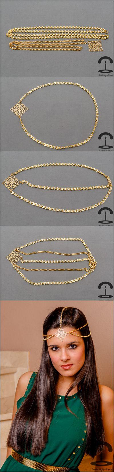 DIY Tiara con cadenas   http://crimenesdelamoda.com/2012/12/10/diy-tiara-con-cadenas/