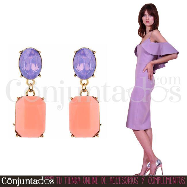 Pendientes Victoria lila y rosa salmón ★ 12'95 € en https://www.conjuntados.com/es/pendientes-victoria-de-color-lila-y-rosa-salmon.html ★ #pendientes #earrings #conjuntados #conjuntada #joyitas #lowcost #jewelry #bisutería #bijoux #accesorios #complementos #moda #eventos #bodas #invitadaperfecta #perfectguest #fashion #fashionadicct #fashionblogger #blogger #picoftheday #outfit #estilo #style #streetstyle #spain #GustosParaTodas #ParaTodosLosGustos