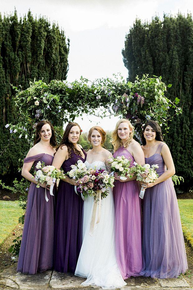 Purple Bridesmaids Dresses Perfect Looks For A Purple Colour Palette Onefabday Com Lilac Bridesmaid Dresses Summer Bridesmaid Dresses Bridesmaid Dresses Mismatched Purple