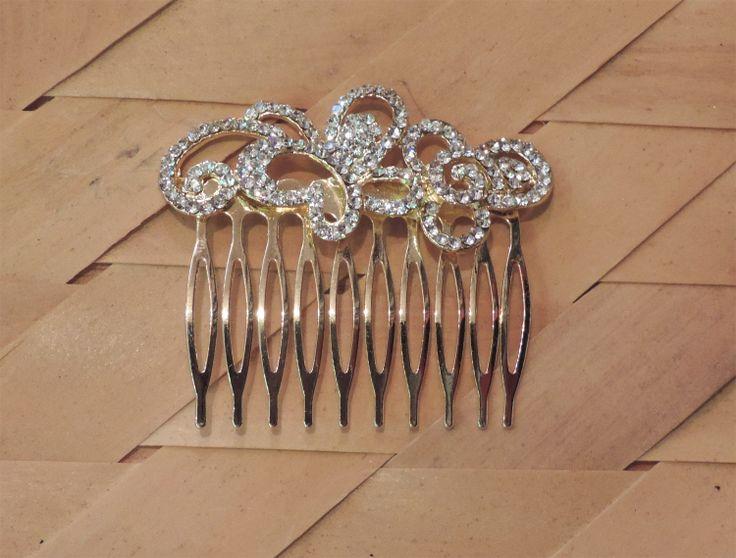 #silver #comb #clip #design #stone #studded #indo #western #fashion