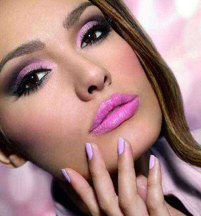 Pink - love the eyes, the lips need to go