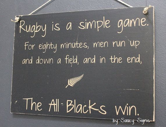 All Blacks Rugby Sign Simple Game New Zealand Rugby by SaucySigns