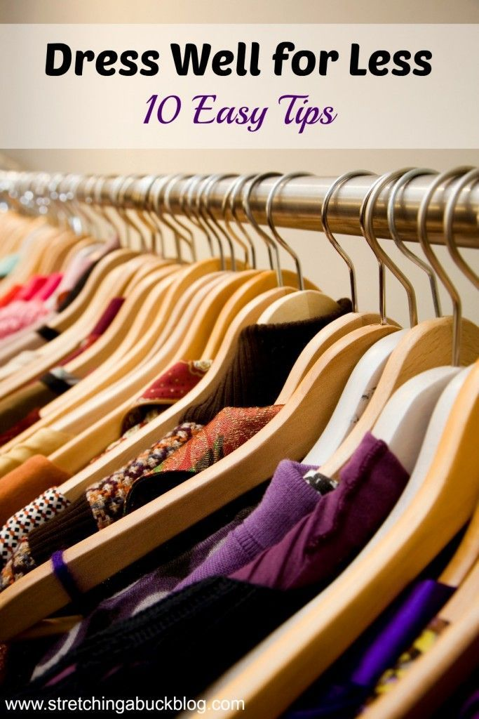 Dress Well for Less | 10 Easy Fashion Tips | Frugal Fashion Ideas #fashiontips,