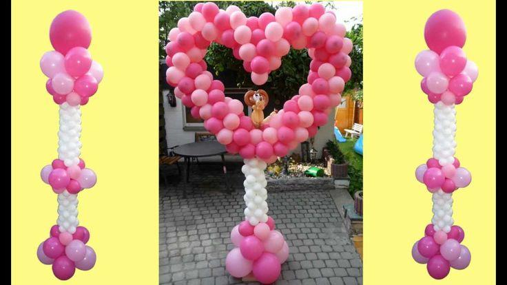 95  Ballondekoration, balloon lionheart, Ballon Löwenherz, balloon decoration, lion heart, Löwe Herz