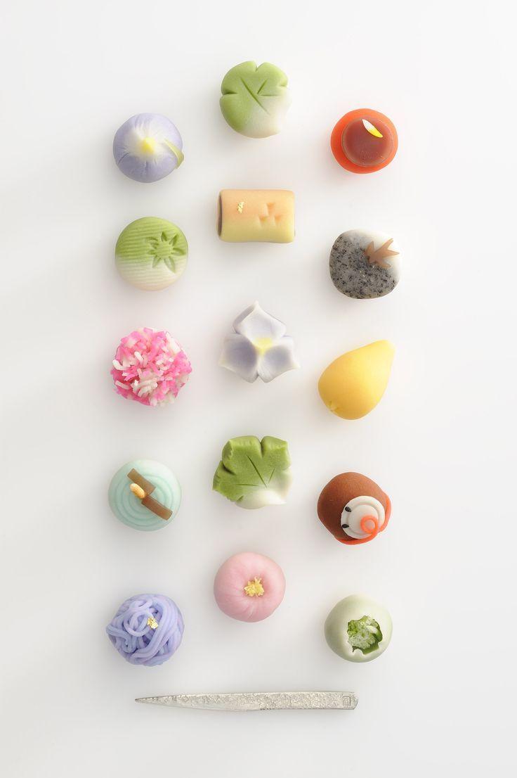 Wagashi. Japanese sweets.