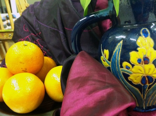 Still Life with contrasting colours http://www.tumblr.com/blog/artpadpendle