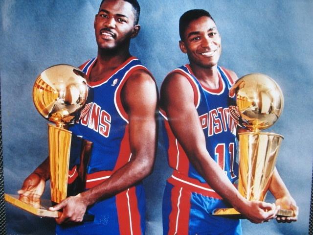 Joe Dumars (4) & Isiah Thomas (11) DEEEEEEETROIT BASKETBALL!  www.kingsofsports.com