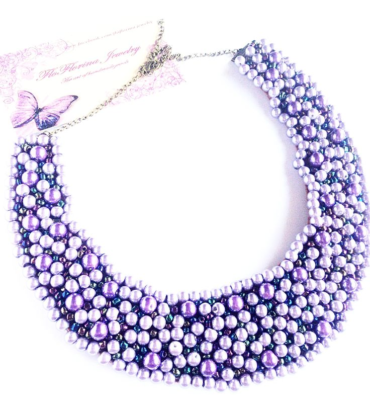 Glass pearls necklace handmade by FloFlorina Jewelry ( https://www.facebook.com/floflorina.jewelry )