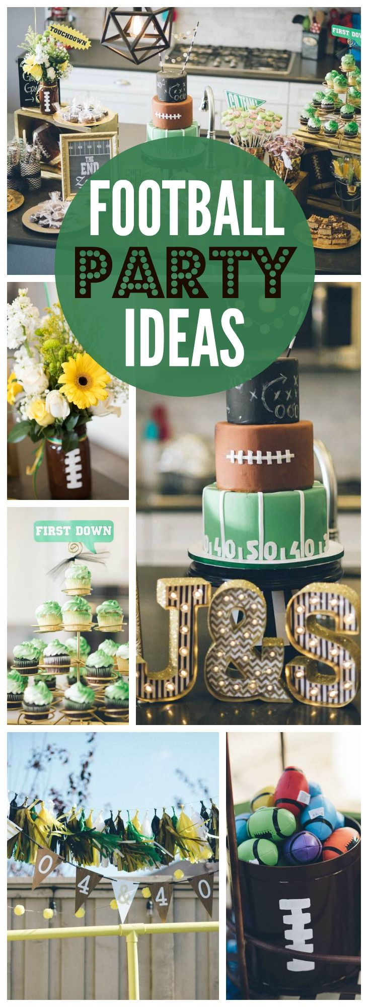 These sports loving, football fanatics throw a 40th birthday party! See more party ideas at CatchMyParty.com!