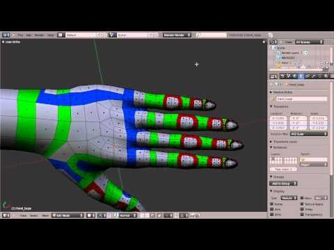Blender Topology Collection: Hand Overview