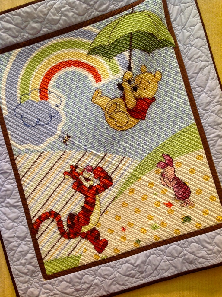 """""""Winnie the Pooh"""" Chenilled Quilt"""