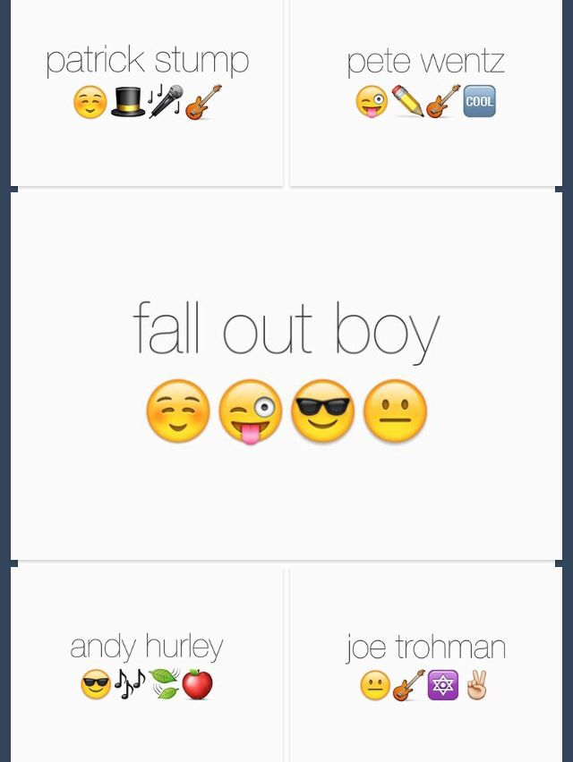 FOB emojis <<< accurate << I don't even need the names to tell who they are…