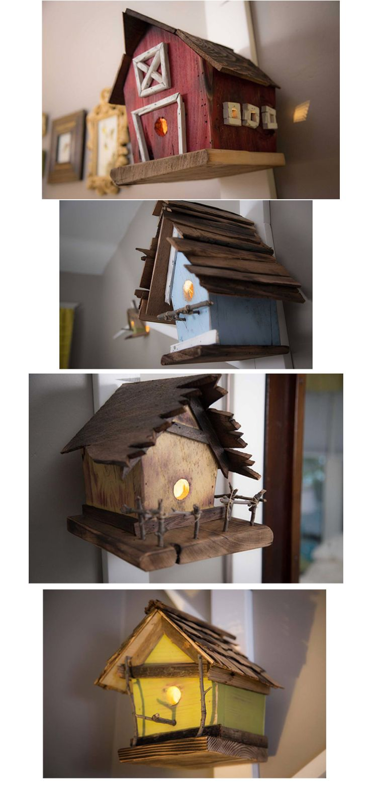 Amazing birdhouse-woodsy nursery done on a budget. Lots of DIY nursery decorating ideas that are within the budget.