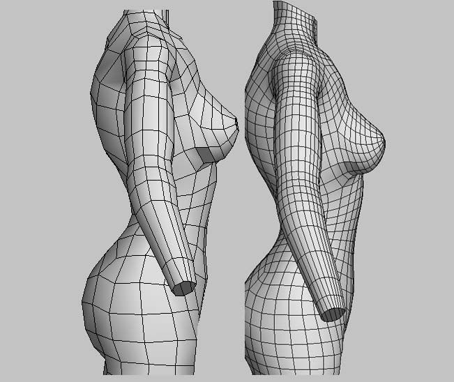 Blender Character Modeling 10 Of 10 : Hey all been learning a bunch about topology and poles