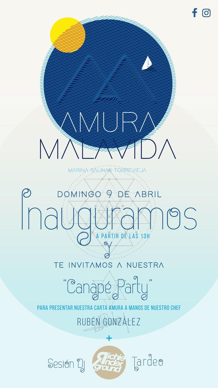Amura Malavida Invitación inauguración - Opening invitation