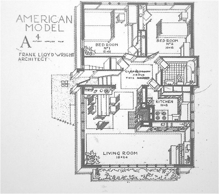 28 best wright frank lloyd l american system built images for Frank lloyd wright blueprints houses