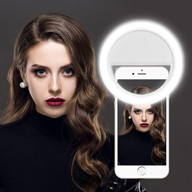 Led Selfie Ring Light For Smartphones Videos Selfie Ring Light Portable Led Portable Led Lights