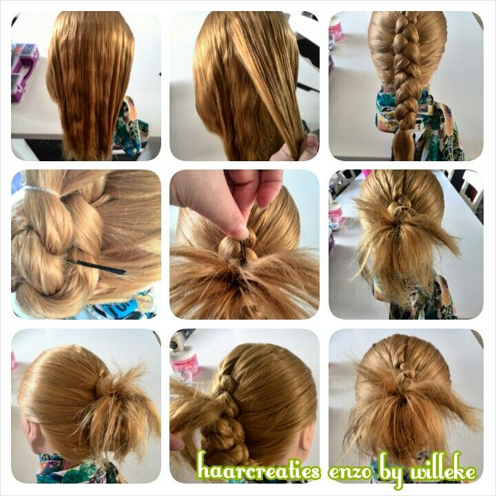 Pictorial flip back braid with fireworks hair | cute girls hairstyles