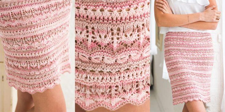 Кружевная юбка мини Vogue Knitting Spring Summer 2017
