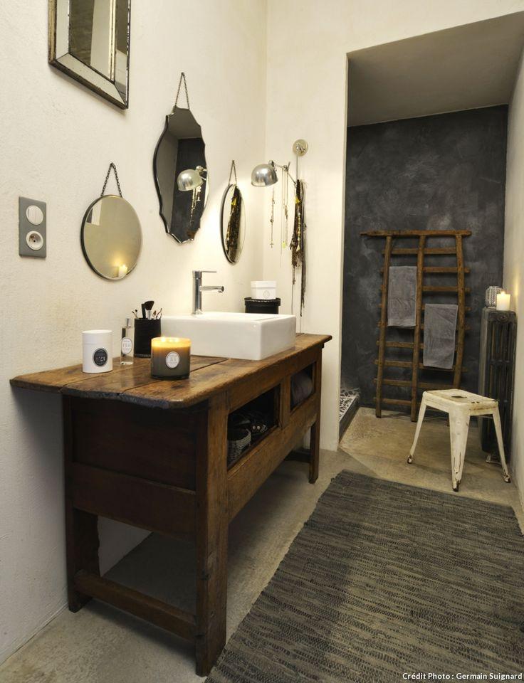 meuble chiné pour vasque de salle de bains