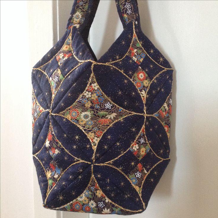 Mums Japanese folded patchwork bag