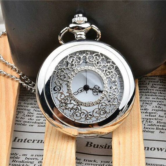 Beautiful Silver Pocket Watch by SaltLily on Etsy