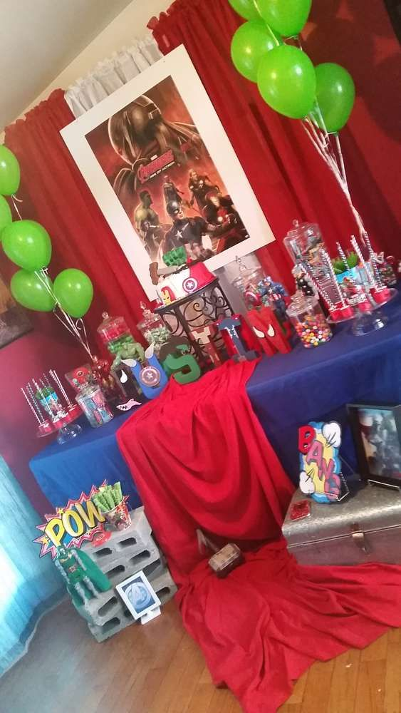 Marvel/Avengers Birthday Party Ideas | Photo 10 of 11 | Catch My Party