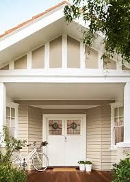 Image result for exterior weatherboard house colours cream and white