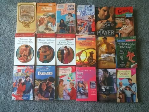 Harlequin-Romance-Books-Mixed-Lot-of-18-2-Vintage-Paperback-1959-2012
