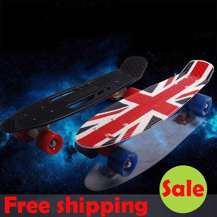 38.70$  Know more  - New peny board 22 Skateboard Pnny Board Complete Plastic Mini Skate Longboard Retro Cruiser long skate board for sale hoverboard