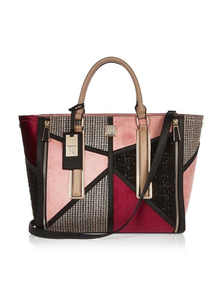 River Island Boucle Patchwork Tote Bag, http://www.very.co.uk/river-island-boucle-patchwork-tote-bag/1600104517.prd