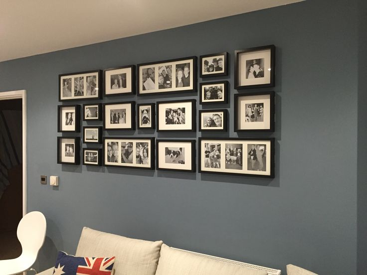Photo wall - IKEA Ribba frames                                                                                                                                                                                 More
