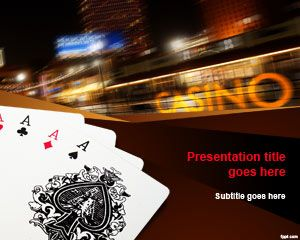 7 best casino background for powerpoint images on pinterest free poker cards powerpoint template free powerpoint templates toneelgroepblik Image collections