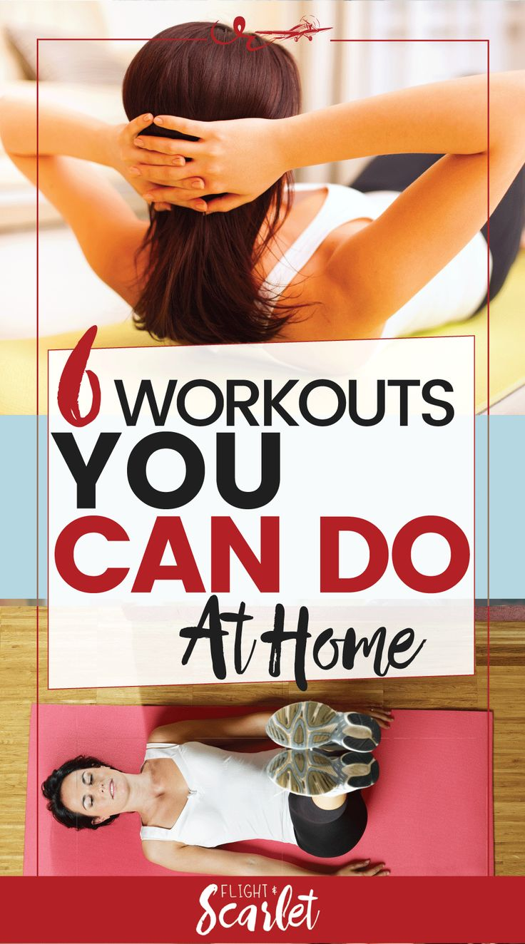 If you're looking for some simple workouts to do at home, you'll love these 6 workouts. Just put on some workout clothes, and get to work! These are great for beginners and require no equipment. I've included workouts for abs, booties, leg, arm, and full body HIIT.