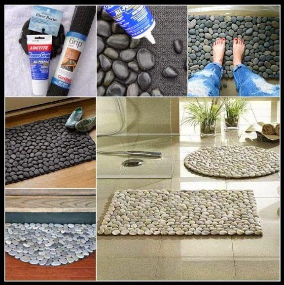 Tapete de pedras | Decoração Reciclada