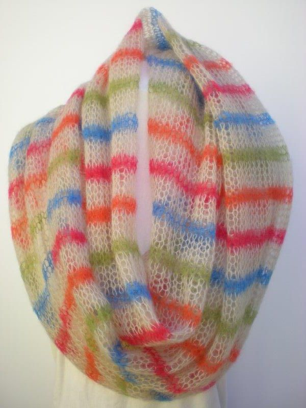 Tropical stripe in baby mohair by MK