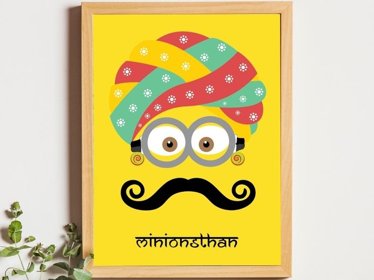 Rajasthani Minion:   A minion with Rajasthani(India) Turban on his head to give it an Indian attire.