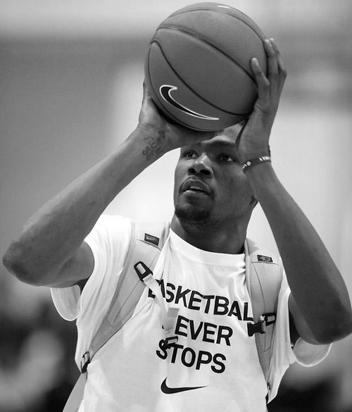 Kevin Durant, basketball never stops