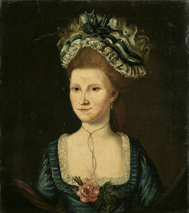 Mrs. Leonard Rogers (ca. 1768-?), ca. 1785-1790.  Oil on canvas, by unidentified artist.  Gift of John A. Thompson, New-York Historical Society, 1940.485.